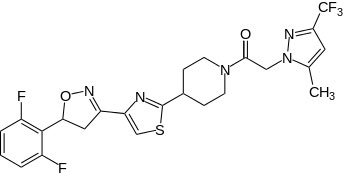 Chemical structure of Oxathiapiprolin (DPX-QGU42)