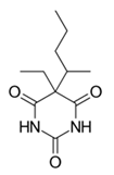 Chemical structure of pentobarbital