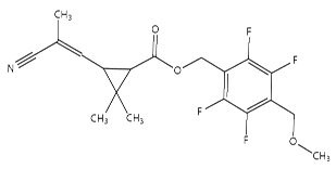 Figure 1: Chemical structure of momfluorothrin