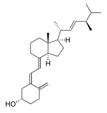 Chemical structure of ergocalciferol (vitamin D2)