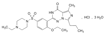 Chemical structure for vardenafil