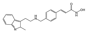 Chemical structure of Panobinostat (free base)
