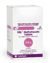 30 DBL Methotrexate Tablets 2.5 mg box packaging