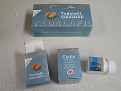 Lieel Icos Cialis tadalafil: image of blue box packaging