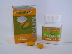 Lieel Icos Cialis tadalafil: image of yellow box packaging