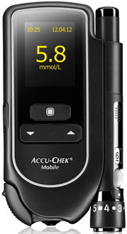 Accu-Chek Mobile blood glucose meter