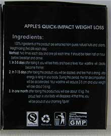 Apple's quick-impact weight loss packaging