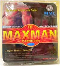 Maxman III capsules - front of packaging
