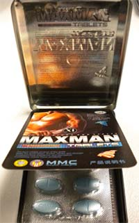 Maxman XI packaging (front and interior view)