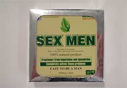 front image of the MMC Sex Men packaging
