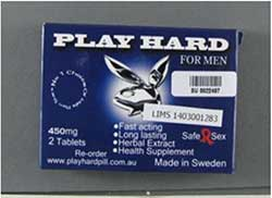 image of the Play Hard for Men packaging