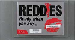 image of the REDDES (or REDDIES) packaging