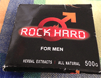Rock Hard for Men front view of packaging