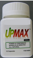 UPMAX capsules front of bottle