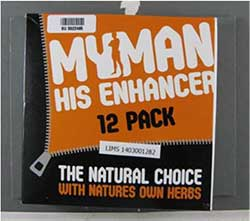 image of the My Man His Enhancer 12 Pack packaging