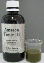 Amazon Tonic III bottle and conents