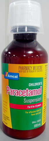 Amcal Children's Paracetamol Suspension for 6 to 12 years