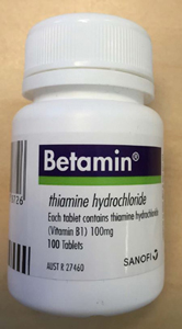 front of Betamin bottle