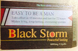 Black Storm tablet packaging