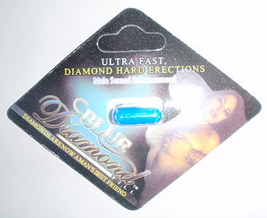 photo of front of Blue Diamond capsule packaging