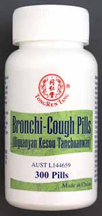 A bottle of Bronchi-cough Pills