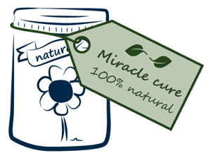 illustration of miracle cure container