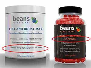 Examples of sports supplements that are affected