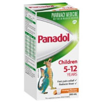 Children's Panadol 5-12 years orange flavour