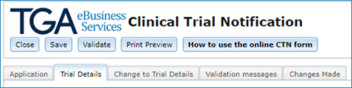 screenshot showing the trial details tab