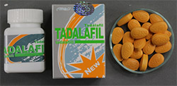 Counterfeit Taladafil packaging and tablets