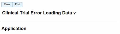 Clinical Trial Error Loading Data