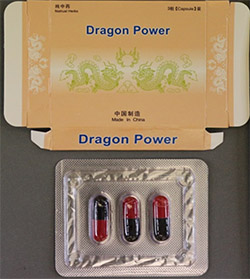 Dragon Power capsules and packaging