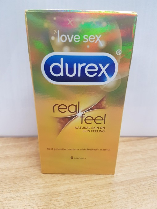 picture of durex real feel condoms package