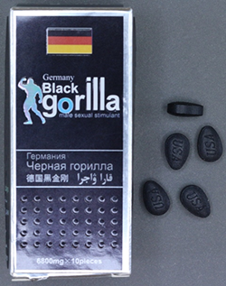 Germany Black Gorilla Packaging and tablets.