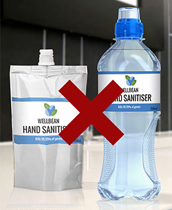 Hand sanitiser packaging
