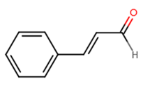 chemical structure of cinnamaldehyde