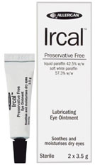 Ircal 2 x 3.5 g ointment container and packaging