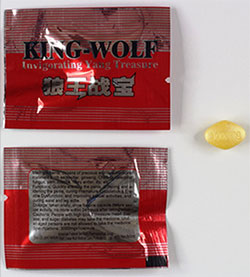 King-Wolf packaging and tablet