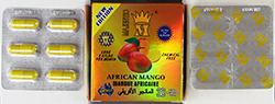 Majestic African Mango capsules and packaging.