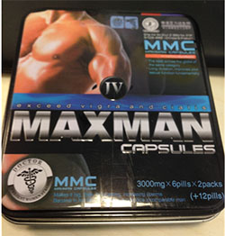 Packaging for Maxman IV capsules