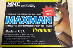 Packaging for Maxman Premium capsules