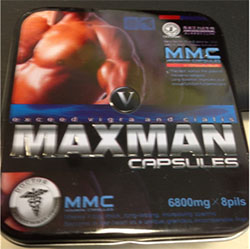 Packaging for Maxman V capsules