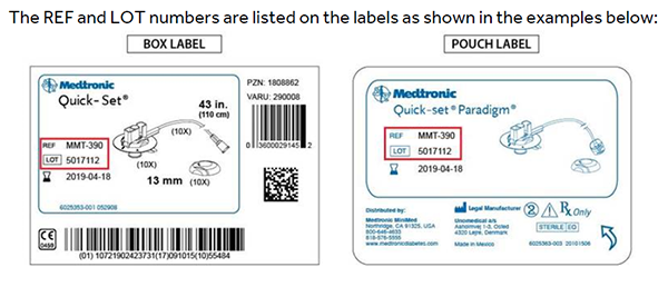 recall instructions to check Medtronic MiniMed infusion sets