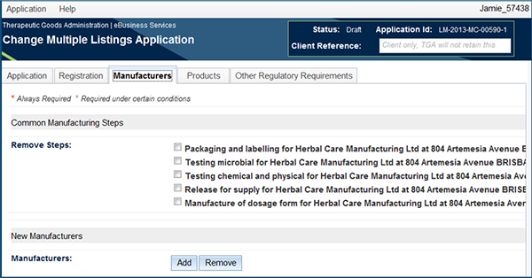 screenshot of Change Multiple Listing Applications fields