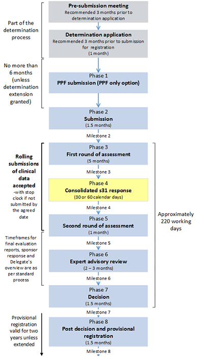 Provisional registration process diagram - see text version below
