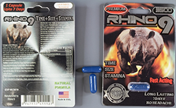 Rhino 9 capsules and packaging.