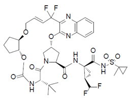 chemical structure of glecaprevir