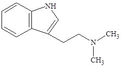 Figure 4.4: Structure of N,N-dimethyltryptamine