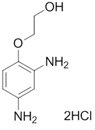 Chemical structure of 2,4-Diaminophenoxyethanol