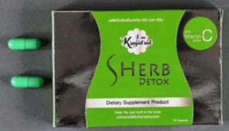 Sherb Detox packaging and capsules